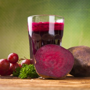 Beet juice with fruits