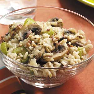 Rice with mushrooms