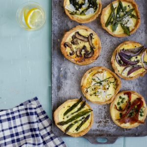 Spring vegetables tart